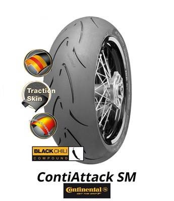 continental contiattack sm 140 70 r17 m c 66h tl rear tyre. Black Bedroom Furniture Sets. Home Design Ideas