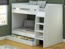 Royal White Bunk Bed With Storage Drawer - 3ft Single