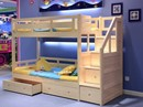 Solid Pine Wood Traditional Wooden Bunk Beds With Staircase Drawers