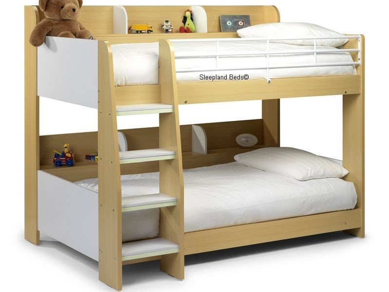 Julian Bowen Domino Bunk Bed With Side Shelf To Both Bunks