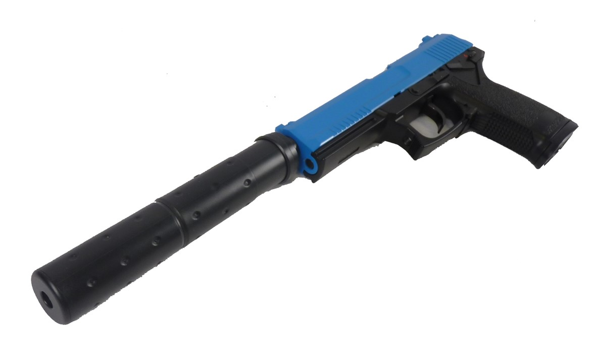Two Tone HFC MK23 Non Blow Back Airsoft Pistol - Blue