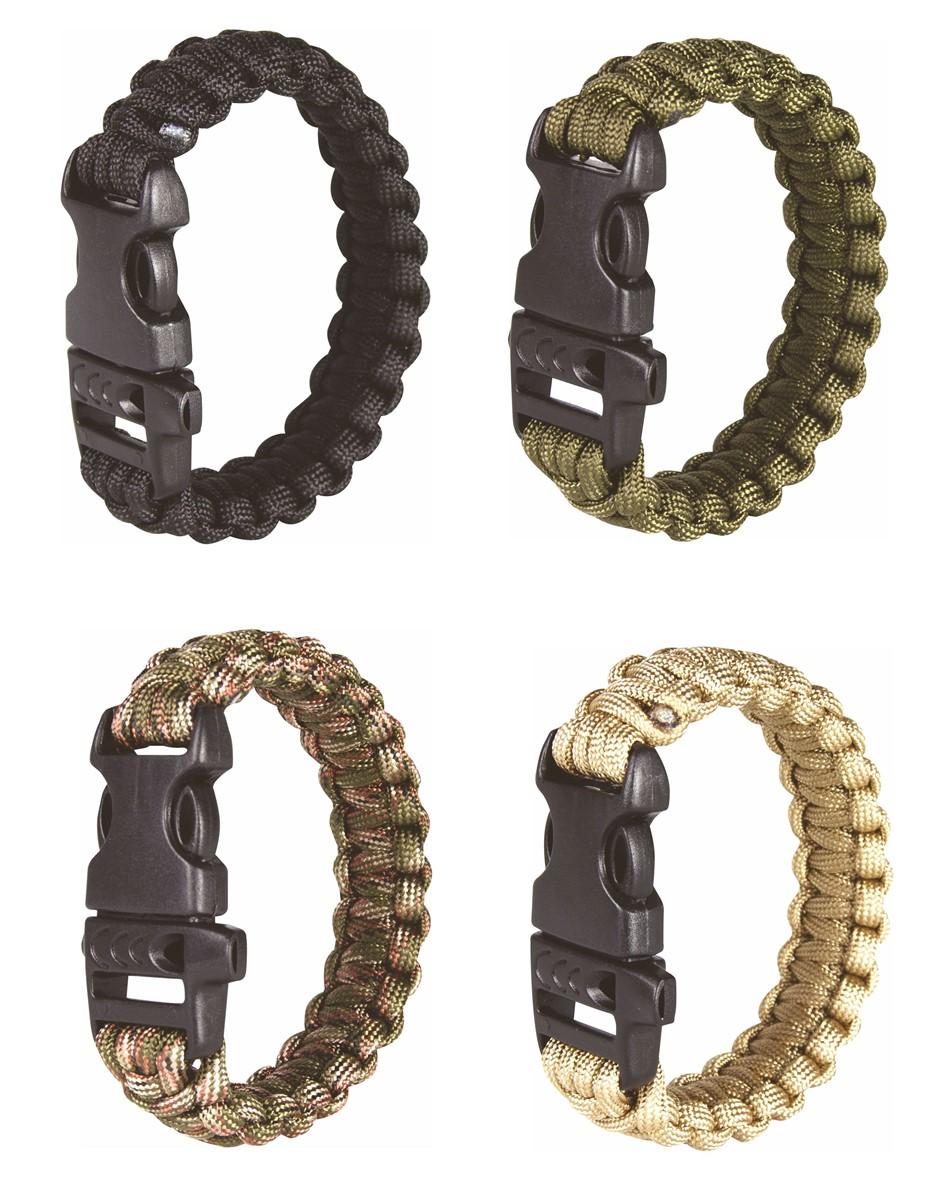 Web-Tex Tactical Paracord Wrist Band Green Large