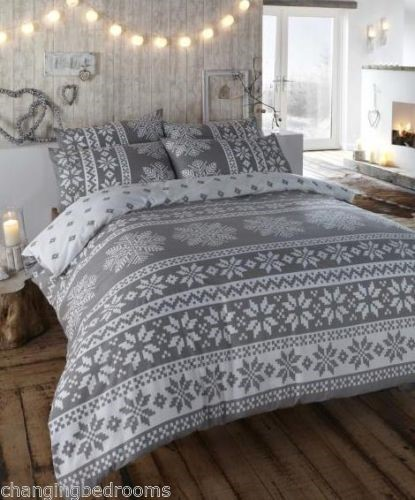 Changingbedrooms Com Single Size Flannelette Grey Nordic