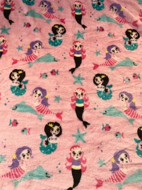 Double Sided Super Soft Cuddle Fleece Fabric Material MONKEY RED