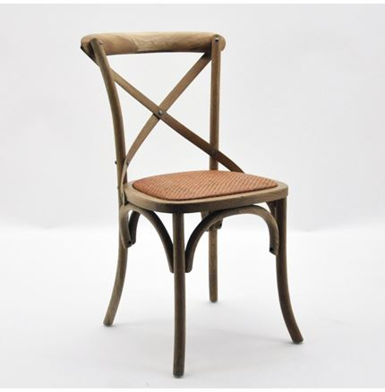 4x Cintra Cross Back / bent wood Dining Chairs - Natural oak
