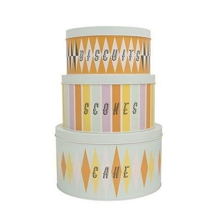 Carnival Tin set of 3 - BISCUITS - SCONES - CAKES