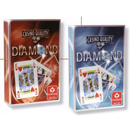 Cartamundi  - Diamond - Casino Quality Playing cards - Bridge Size