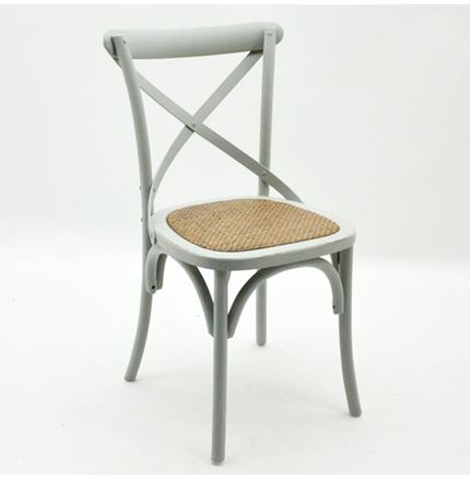 Cintra Cross Back / bent wood Dining Chair - French Grey