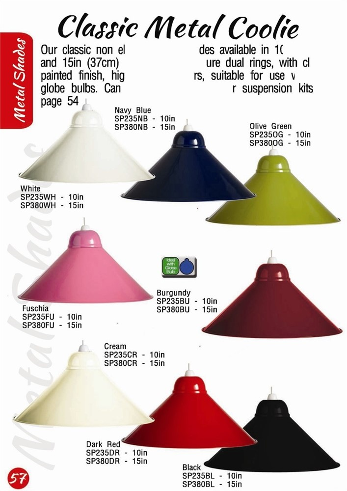 Classic metal coolie light lamp shade 15in mozeypictures Images