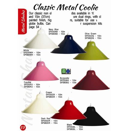 Classic Metal Coolie Light - Lamp Shade - 15in