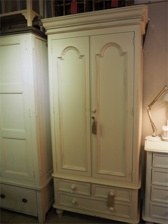 EX DISPLAY OFFER - Ascot Single Wardrobe In Antique Ivory