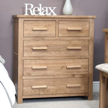 EX DISPLAY - Opus Oak 2 Over 3 Drawer Chest