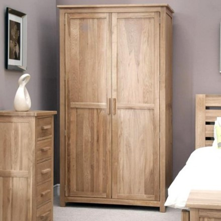 EX DISPLAY - Opus Oak Wardrobe - full length