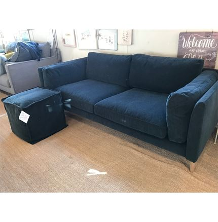 EX DISPLAY - Sigge 3 Seater sofa & Fatty Footstool  by Sits