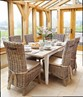 Grey Kubu / Rattan Seat Dining Chair with seat pad  thumbnail