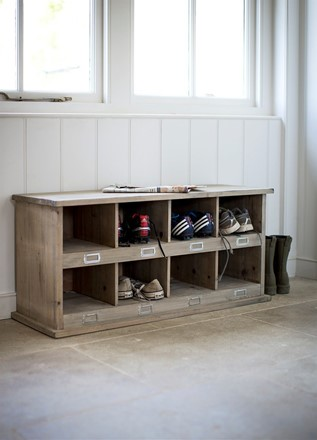 Hall Storage Bench - Chedworth 8 Shoe Locker