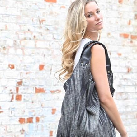 Hava Bag in Black Stripe