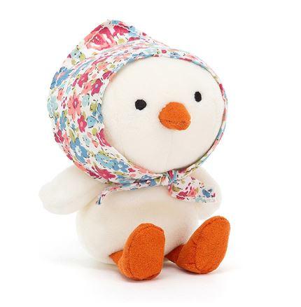 Jellycat soft toy - Betty Bonnet Cream Chick