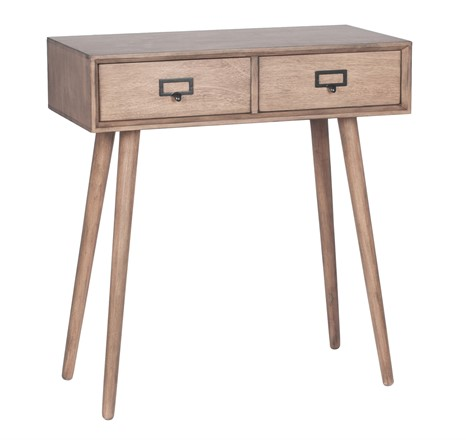 Klimt - Desert Brown Pine Wood 2 Drawer Unit - Console Table