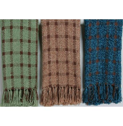 Knitted Checked throws