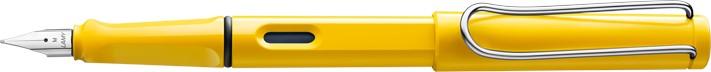 Lamy Safari Yellow Fountain Pen + Free pk(5) Blue ink cartridges
