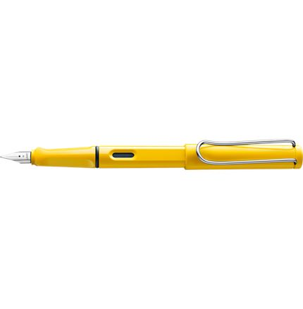 Lamy Safari Yellow Fountain Pen + Free pk(5) Blue ink cartridges