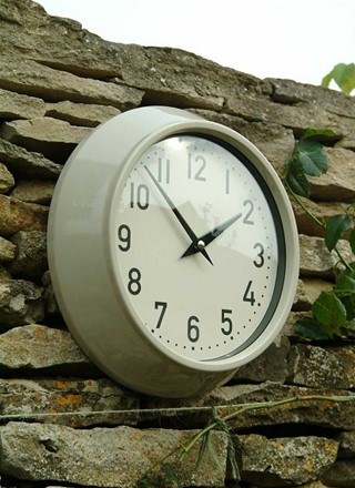 Large Outdoor Clock in Clay