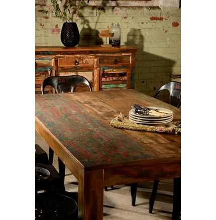 Little Tree Reclaimed Furniture - Mary Rose Upcycled Dining Table - Medium