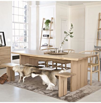 Malmo 210cm Dining Table - 50% Off - with cross back chair offer