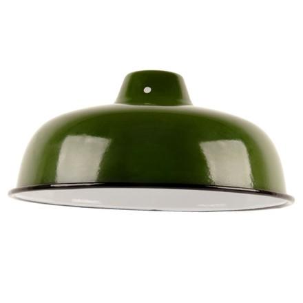 Medium Enamel Light - Lamp shade - Green - 10inch Dia