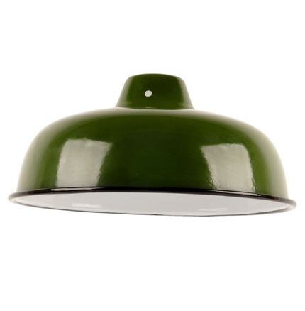 Medium Enamel Light - Lamp shade - Green - 10inch Dia