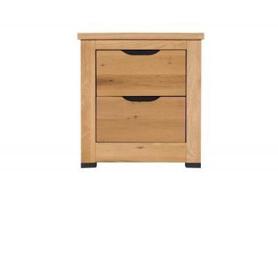 Milan Bedroom Furniture - 2 Drawer Bedside
