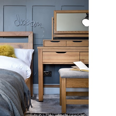 Milan Bedroom Furniture - Dressing Table Stool