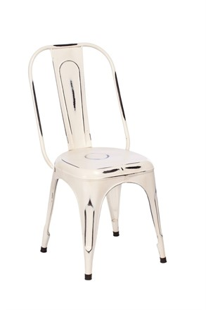 NOW SOLD - TOBY Metal Dining Chair - White