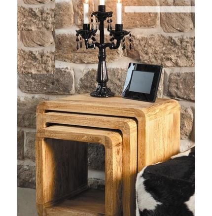 Nest of 3 Tables - Natural
