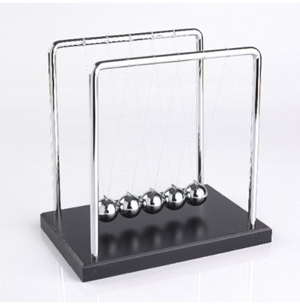 Newton's Cradle - Large with wooden base