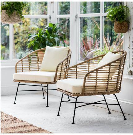 Pair of Hampstead Armchairs - Outdoor Rattan Furniture