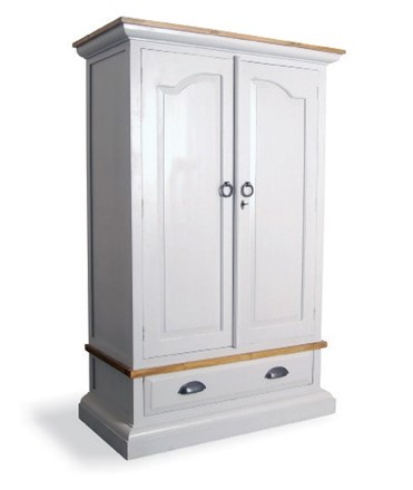 Provence Wardrobe in antique white - Special offer