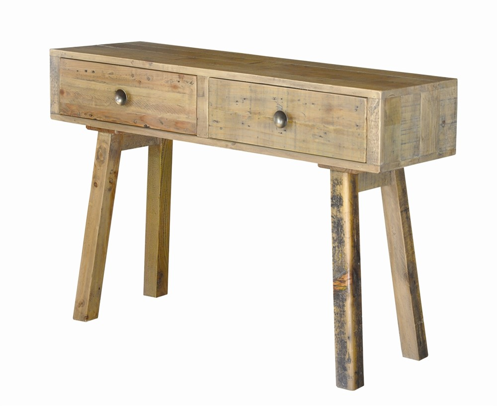 Rustica Dining Furniture - Console table  - dressing table with 2 drawers