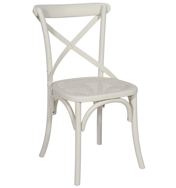 Special Offer Set Of 4 Brittany Cross Back Bent Wood Dining Chairs White Wash Finish