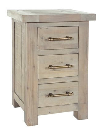 Saltash Dining Furniture - Lamp Table with 3 Drawers - Bedside Cabinet