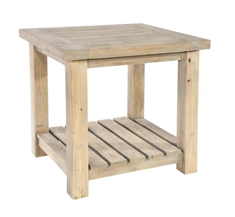 Saltash Dining Furniture - Lamp Table with Undershelf