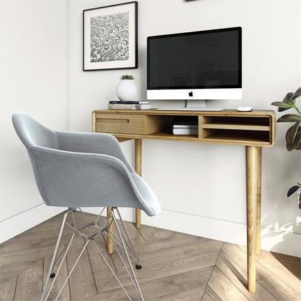 Scandic Computer Desk - Solid Oak