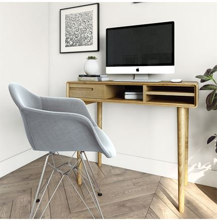 Scandic Computer Desk - Solid Oak