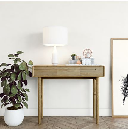 Scandic Hall Table - Solid Oak