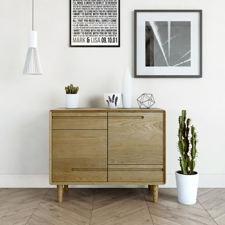 Scandic Small Sideboard - Solid Oak