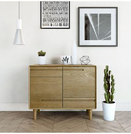 Scandic Small Sideboard - Solid Oak