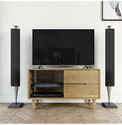Scandic Small TV Unit - Solid Oak