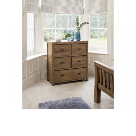 Sienna Bedroom Furniture - 5 Drawer chest