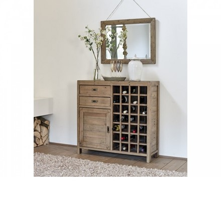 Sienna Dining Furniture - Narrow Sideboard with wine rack